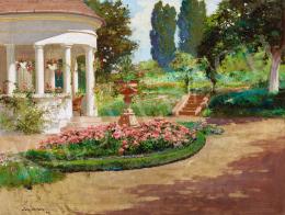 Neogrády László - Tavasz a kertben, 1928