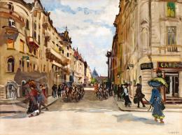 Berkes, Antal - Café in Budapest (Summer Rain), 1912