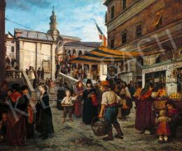 Bruck, Lajos - The Rialto in Venice, 1872