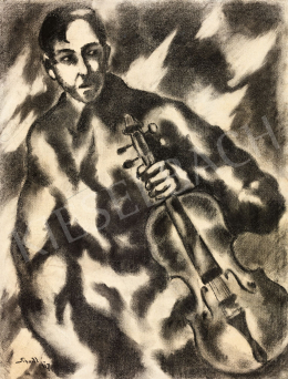 Schadl, János - Boy with the Viola, 1917