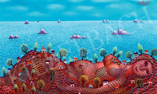 Galambos Tamás - Napfény, tenger, dombok, keblek, 1983 | 58. Tavaszi Aukció aukció / 27 tétel