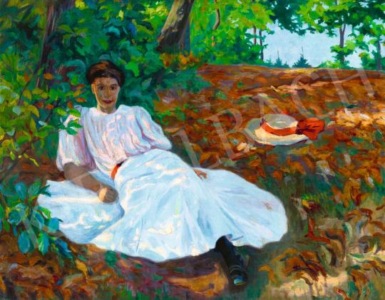 Plány Ervin - Délutáni pihenő, 1907 | 58. Tavaszi Aukció aukció / 32 tétel