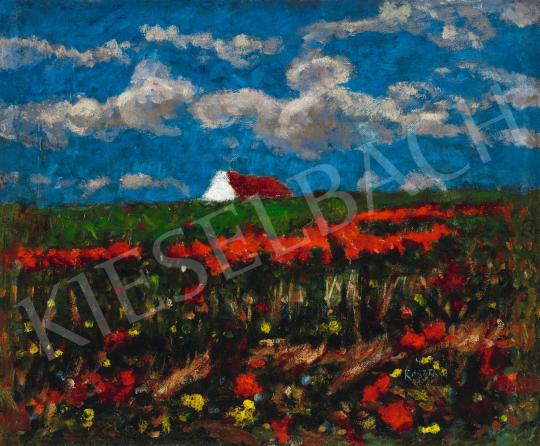 Koszta József - Pipacsos mező (Közelítő vihar), 1920-as évek   58. Tavaszi Aukció aukció / 33 tétel