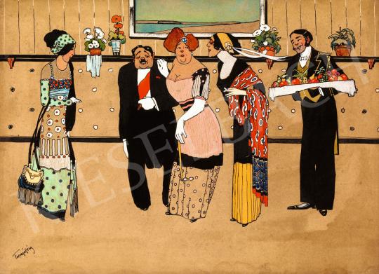 Faragó Géza - Fogadás, 1910-es évek | 58. Tavaszi Aukció aukció / 40 tétel