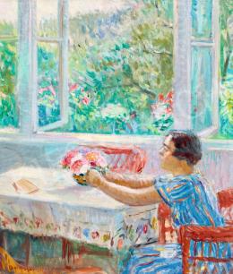 Boldizsár István - Derűs nyári nap (Frissen szedett virágcsokor a kertből), 1934