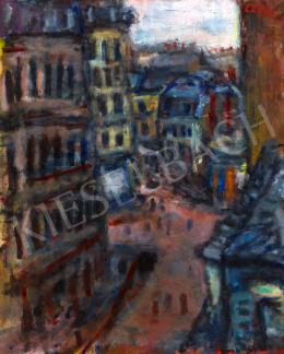 Czóbel Béla - Párizsi utcarészlet (rue Vital)