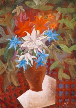 Kádár Béla - Nagy art deco virágcsendélet