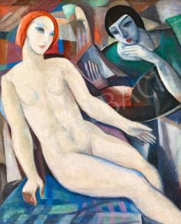 Schönberger Armand - Égi és földi szerelem (Art deco akt)