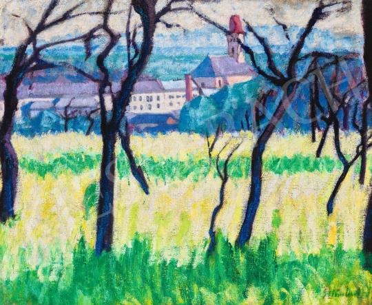Galimberti Sándor - Kilátás Nagybányára (Elégett fák Nagybányán), 1908 | 58. Tavaszi Aukció aukció / 63 tétel