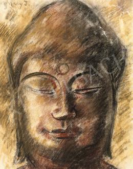 Vaszary János - Meditáló Buddha (A harmadik szem)
