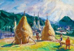 Boldizsár István - Felsőbányai nyár (Betakarítás), 1930 körül