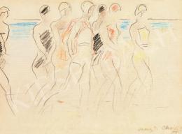 Vaszary János - Olasz tengerparton II. (Akiket néznek), 1922