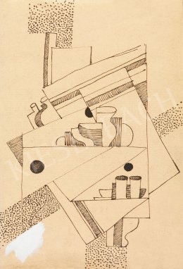 Kádár Béla - Art deco csendélet (Konstruktivista kompozíció), 1920-as évek
