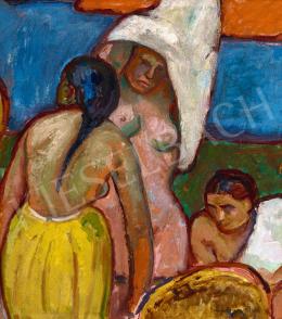 Iványi Grünwald Béla - Fürdőző nők Nagybányán (Tanulmány a fürdőző nőkhöz), 1909 körül