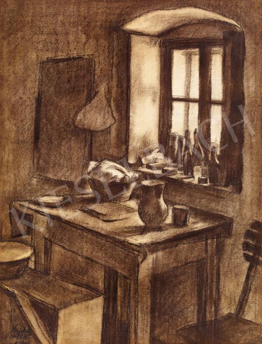 Vajda Lajos - A művész szobája, 1925 | 58. Tavaszi Aukció aukció / 93 tétel