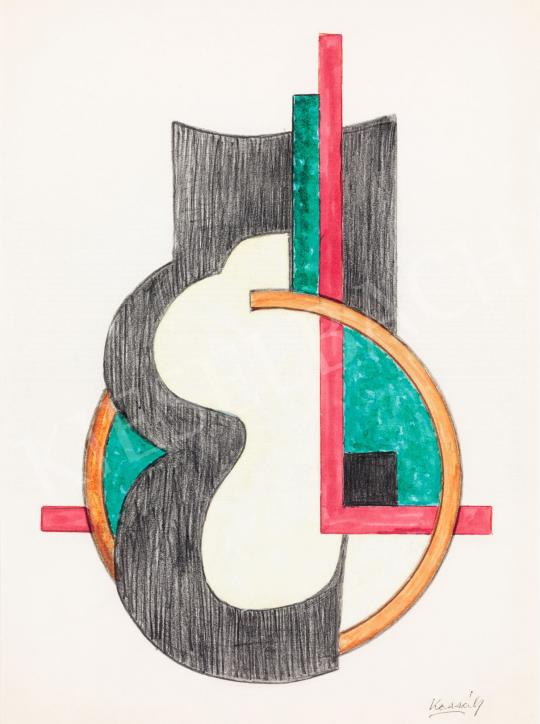 Kassák Lajos - Megnyíló kör, 1960 körül | 58. Tavaszi Aukció aukció / 124 tétel