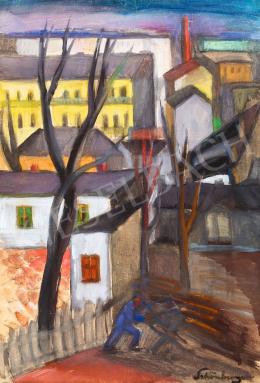 Schönberger Armand - Budai tájkép, 1930-as évek