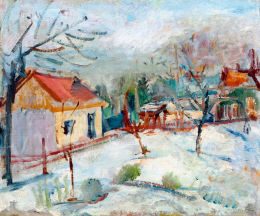 Márffy, Ödön - Winter Landscape with Cottages