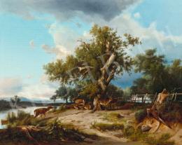 Markó, András - Deers by the Water, 1861
