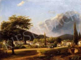 Sterio Károly - Bártfa látképe