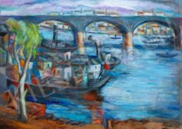 Schönberger Armand - Folyó híddal