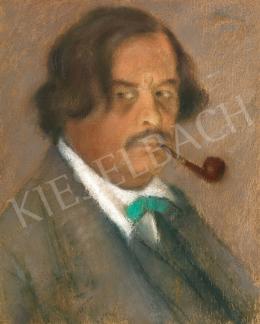 Rippl-Rónai József - Önarckép zöld csokornyakkendővel, 1922
