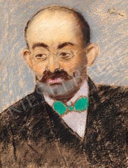 Rippl-Rónai József - Szakállas férfi zöld csokornyakkendővel