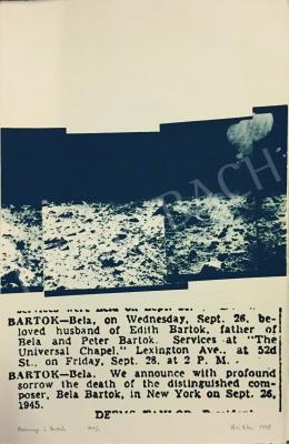 Kéri Ádám - Bartók emlékére - Hommage á Bartók (Emlékalbum, 32 lap) Budapest-Paris, 1978-1979