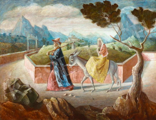 Molnár C. Pál - Menekülés Egyiptomba, 1940 körül | 58. Tavaszi Aukció aukció / 28 tétel