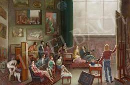 Molnár C. Pál - A művész műterme (Fiatal művészek a műteremben)