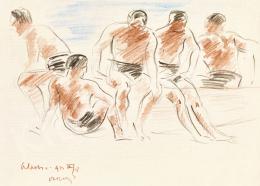 Vaszary János - Olasz tengerparton I. (A nézők), 1922