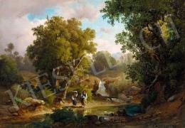 Ifj. Markó Károly - Olasz tájkép patakkal, 1861