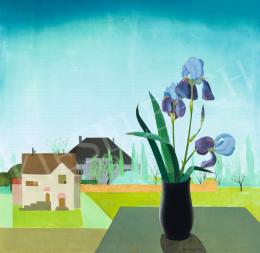 Kontuly Béla - Kék íriszek a festő teraszán, 1933