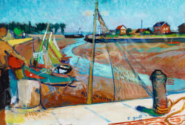 Erdélyi-Gaál Ferenc - Honfleur kikötője (Normandia)