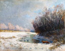 Ujváry Ignác - Téli patakpart, 1906