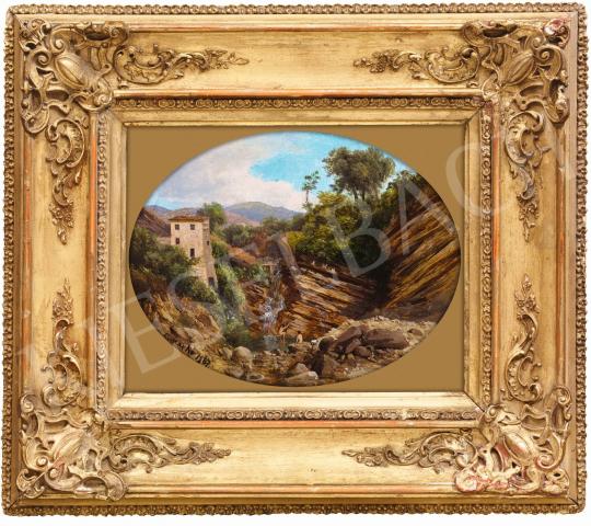 Ifj. Markó Károly - Fürdőzők a vízesésnél, 1867 | 58. Tavaszi Aukció aukció / 42 tétel