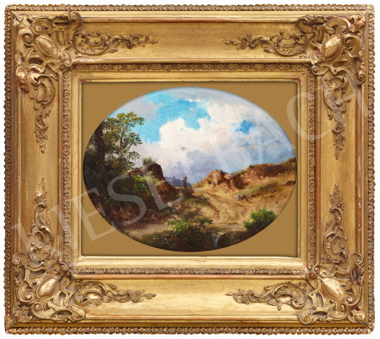 Ifj. Markó, Károly jr. - Sunlit Italian Landscape, 1867 | 58th Spring Auction auction / 42 Item