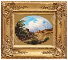 Ifj. Markó, Károly jr. - Sunlit Italian Landscape, 1867