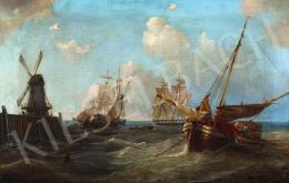 19. századi németalföldi festő IBW szignóval - Vitorlás