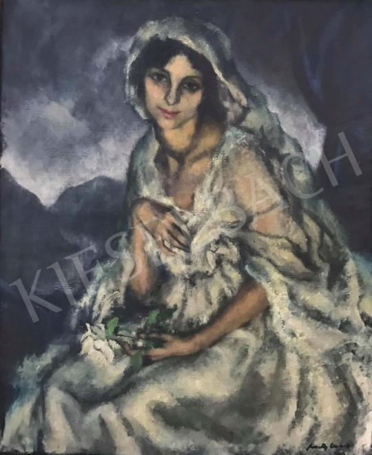 Eladó Feszty Masa - Elegáns hölgy portré festménye