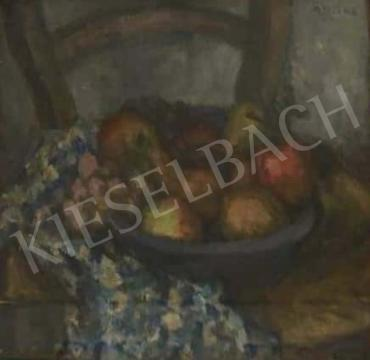 Gráber Margit - Csendélet gyümölccsel és terítővel festménye