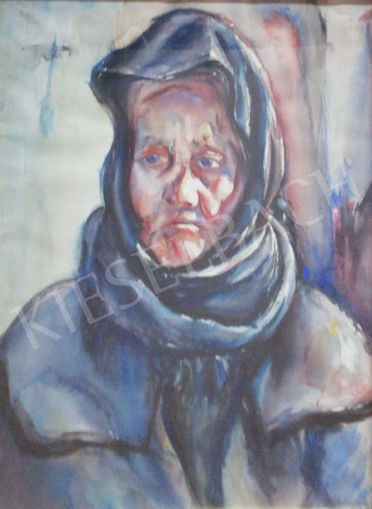 Gallé Tibor - Idős hölgy, 1931 festménye