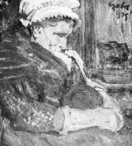 Czóbel Béla - Brüggei öregasszony, 1905