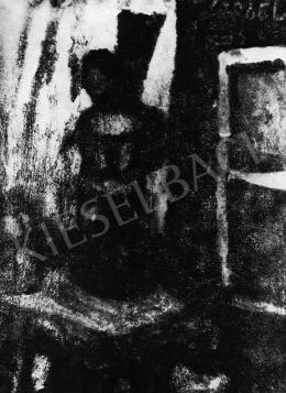 Czóbel Béla - Enteriőr Szt. Sebestyén szoborral, 1928