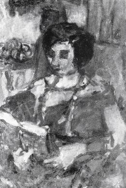 Czóbel Béla - Olvasó nő, 1931