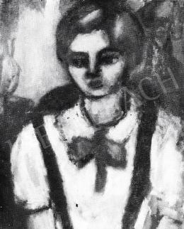 Czóbel Béla - Kislány arcképe, 1930 után
