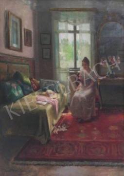 Kováts Gyula - A kis kedvenc, 1935 festménye