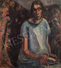 Gráber Margit - Zöld ruhás lány, 1928