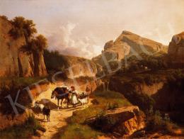 Markó, András - Italian Landscape with Shepherd Girl, 1875