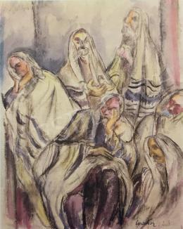 Gráber Margit - Imádkozó zsidók, 1923